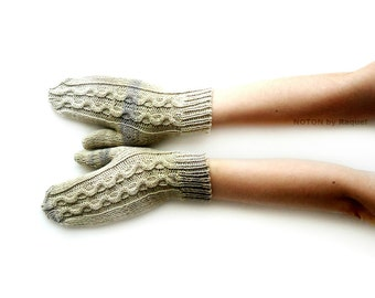 Short Knit Gloves, Dappled Gloves, Womens Gloves
