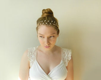 Crystal Hair Vine - Hand wired Swarovski crystal headpiece - style 003