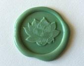 Peace Lotus Flower Nature Wax seal stamp /Heypenman crossover with BlackmarketIntl/