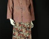 Boho cotton cardigan Oversized ethnic jacket Flowers applique coat Woodstock festival Hippie clothes Bohemian clothing Ethnic print M L