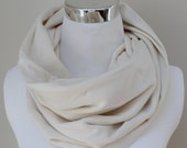 Organic Cotton Circle Scarf in Natural Rib // Textured Infinity Scarf