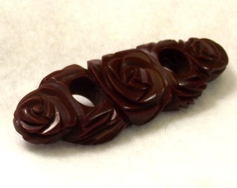 Collectible Bakelite Brooch - Book Piece Jewelry - Bakelite Jewelry - Flower Pin - Collectible Jewelry - Bakelite Pin - Vintage Jewelry