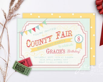 County Fair Birthday Invitations