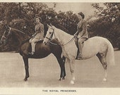 Royal Riders - Vintage 1940s Equestrians of Note Photochrom View Postcard