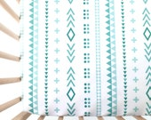 Crib Sheet Mint Pattern Play. Fitted Crib Sheet. Baby Bedding. Crib Bedding. Minky Crib Sheet. Crib Sheets. Teal Crib Sheet.