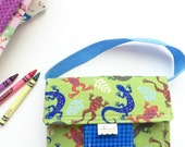Crayon Holder Tote - Traveling Art Tote for Kids - Travel Pad Kids - Birthday Gift - 4 x 6 Notepad - Matryoshka Dolls - Notepad Crayon Pad