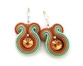 soutache earrings - rustic wedding jewelry - rustic bridal earrings - bohemian earrings - statement earrings - bridesmaids earrings rustic