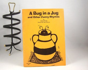 Vintage Children's Book A Bug in a Jug 1960s with Woodblock Illustrations
