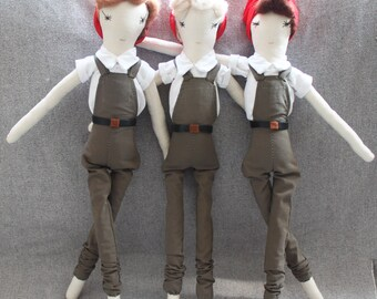 Land Girl Ragdolls: Handmade from Vintage and Recycled Materials, Cloth Doll, army doll, ww2 dolls, 1940s doll