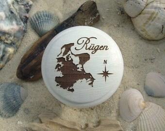 Cabinet knob Baltic Sea Island of Rügen chalk rock engraving - furniture knob