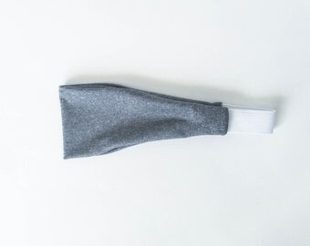 grey, gray, workout, fitness, performance, headband, sweat band, fitness gear, workout apparel, no slip headband, yoga, pilates, boho