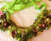 Custom order for Annie: Bauble Necklace In Pear Green