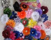 50 Headband Kit / DIY Headband / Party Favor / Baby Shower / Make Headbands / Craft Kit / Hair Clip / Headband Supply