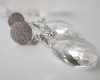 Crystal Drop Earrings - For Her, Gift For Her, Gift For Mom, Mother Of The Bride, Gift For My Girlfriend, Birthday, Anniversary
