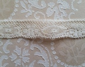 Dainty Antique 1910's White Valenciennes Netted Lace Trim | 3/8"