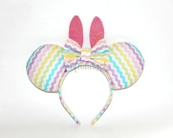 Bunny Mouse Ears // Easter Egg Mouse Ears // by Born Tutu Rock