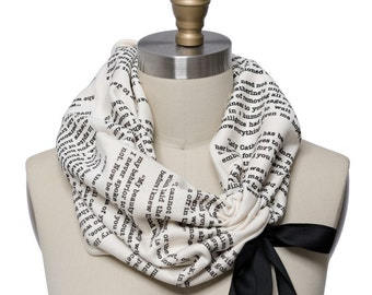 Pride and Prejudice Light Weight Summer Book Scarf