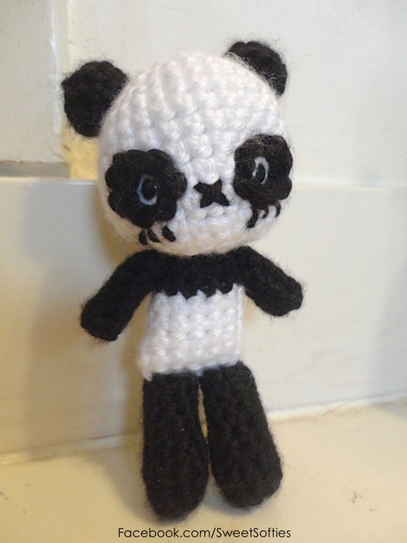 Amigurumi Chibi Doll Pattern Free : Items similar to amigurumi crochet panda doll pattern