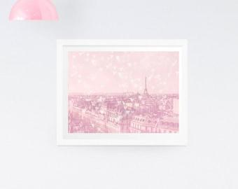 Paris Eiffel Tower Photography Print - Pastel Paris photography