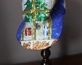 Sequin Christmas Tree Hat Cap