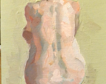 original oil painting 5x7 figure sketch