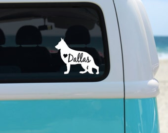 German Shepherd Decal | Personalized German Shepherd vinyl decal | Car Decal | Laptop Decal | Window Decal | Notebook Decal | German Shepher