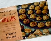Cookbook, Recipe Book, Hook Up Cook Book, Home Baked Breads, Biscuits, Coffee Cakes, Nut Bread, Muffins, Rolls, Buns, Instruction Book