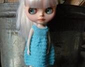 Reserved for Judy - Garter Stripes - Blythe Doll Knitted Dress