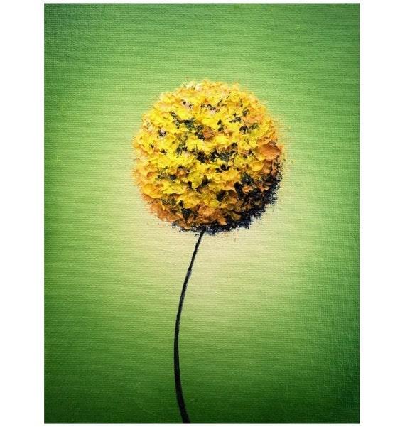 contemporary dandelion head floral - photo #33
