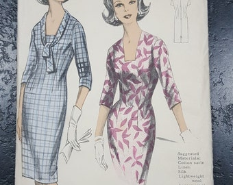 Vintage sewing pattern Maudella 5264 Slim fit dress bust 36 inches 91cm Unused factory folded