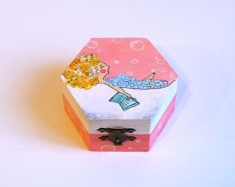 Wooden keepsake box Wooden jewelry box Wood box Decorative box Trinket box Home decor Jewellery box Treasure box Jewelry case