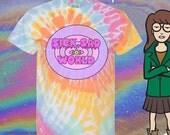 UNISEX Sick Sad World MTV 90s Daria Kawaii Pastel Tie-Dye T-Shirt // Pastel Grunge // Vaporwave Aesthetic // Seapunk // fASHLIN