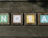 Nursery Decor - Wooden Letters For Nursery - Nursery Art - Nursery Name Art - Nursery Name Letters - Nursery Name Decor - Wall Art Baby Name