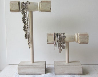 Your Choice - Shabby Chic Bracelet Holder or Necklace Holder Display - Architectural Salvage - Jewelry Storage - Quantities Available