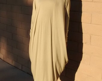 Cocoon Maxi Dress ~ V Neck Jersey Maxi Dress ~ Loose Fitting Knit Caftan / Lounge / Casual / Evening - All Sizes / Colors
