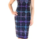 Gravitational Waves Dress - Science SpaceTime Fashion - Female Scientist Plaid Clothing - Women in STEM Wear