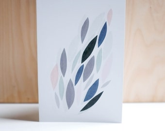 Greetings Card, Collage, Leaf Pattern