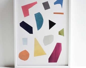 Abstract Collage Art Giclee Print