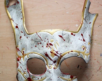 SALE! Splicer-inspired Bunny Leather Mask