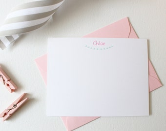 Personalized Stationery Set for Girls | Childrens Stationary | Personalized Stationary | Girls Stationary | Baby Gift | Thank You Cards Baby