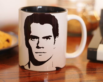Henry Cavill - Man of Steel - Superman - Immortals, Cold Light of Day, Hand Printed, Hand painted  cup