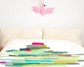 XL Faux taxidermy Pink Flamingo bird animal Wall Mounted head Hunting Trophy wall decor - Life size flamingo