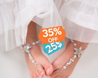 Baby barefoot sandal | Etsy