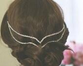 Bohemian Crystal Hair Jewelry | Wedding Head Chain | Art Deco Hair Accessory | Bridal Hair Jewelry | Bridal Hair Piece | | Boho Hair