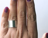 Customize Plain Band Style Ring- Plain without stamping- Hammered