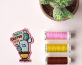 Crazy Cactus Club embroidered patch