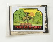 trees of mystery redwoods of california souvenir decal