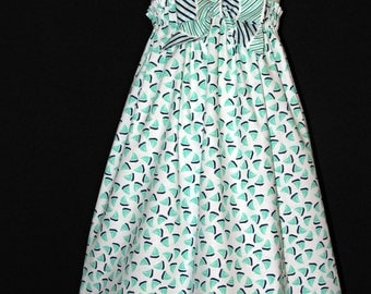 Girls spring summer Easter dress sundress nautical size 6 ready to ship MADE in the USA
