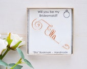 Will you be my bridesmaid gift | Maid of honor | Personalized wire Bookmark | Gift Ready in box | Plantable card