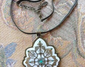 Vintage Satellite Paris Pendant Necklace